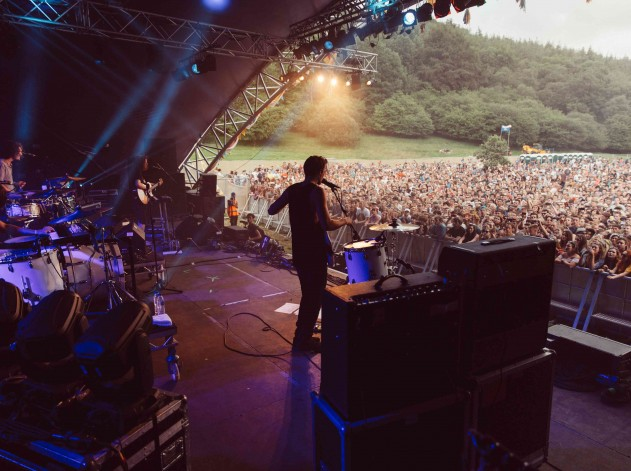 Half Moon Run play to a packed main stage. Photo by Ben Langley