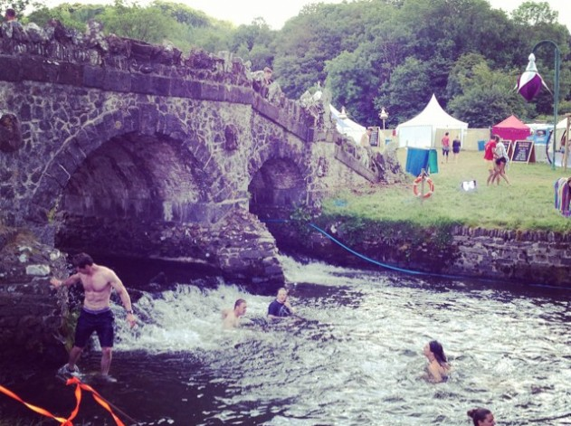 Freshen up with an early morning dip at #somersaultfestival #wildswimming