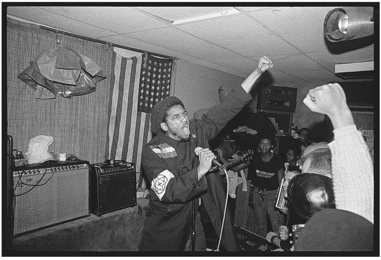 H.R. of Bad Brains, NYC, 1982.