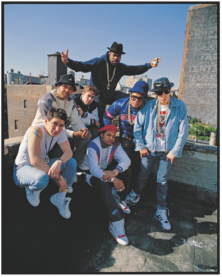 Run-DMC and Beastie Boys, NYC, 1988.