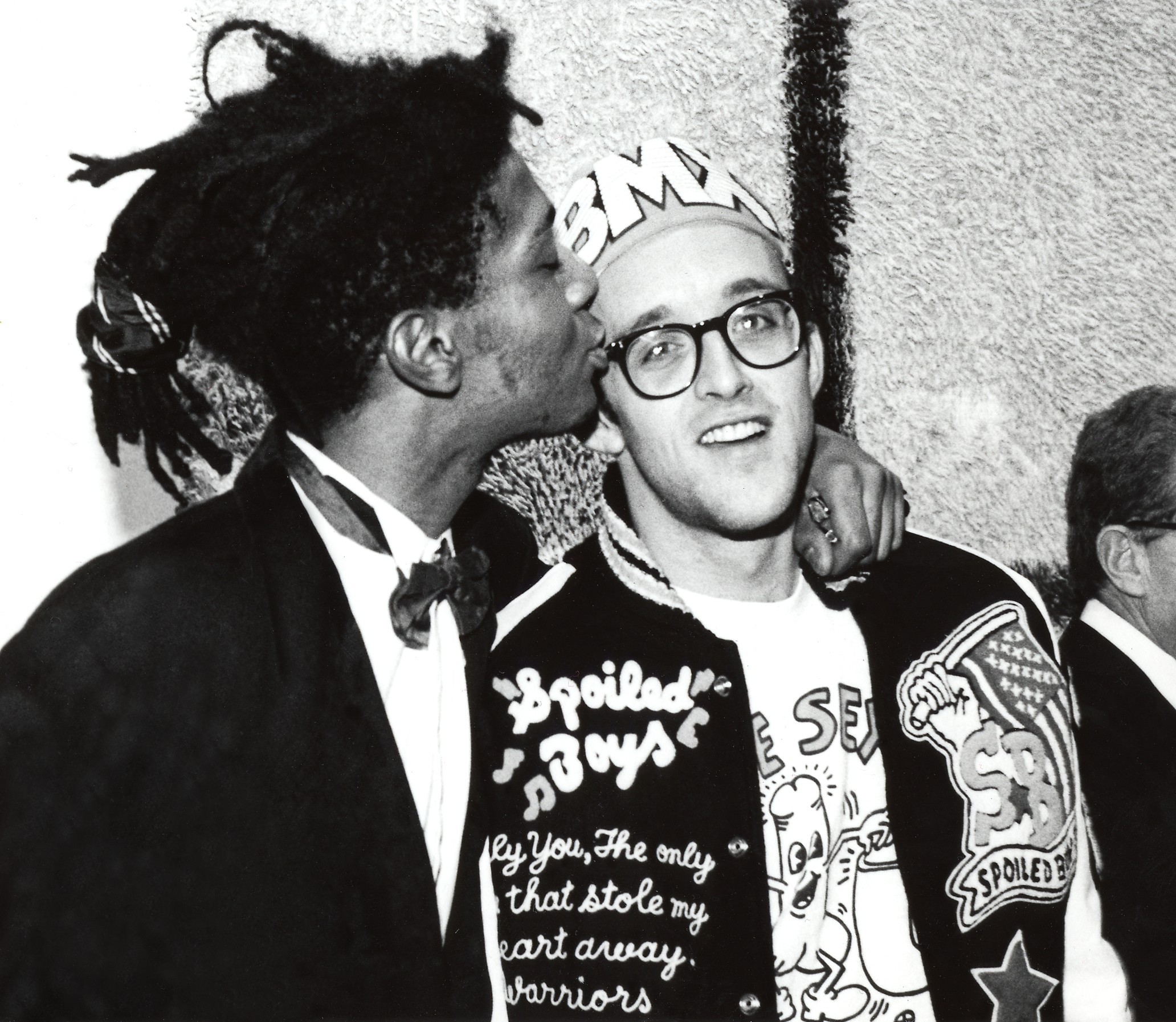 Jean-Michel Basquiat and Keith Haring. Photo by George Hirose.