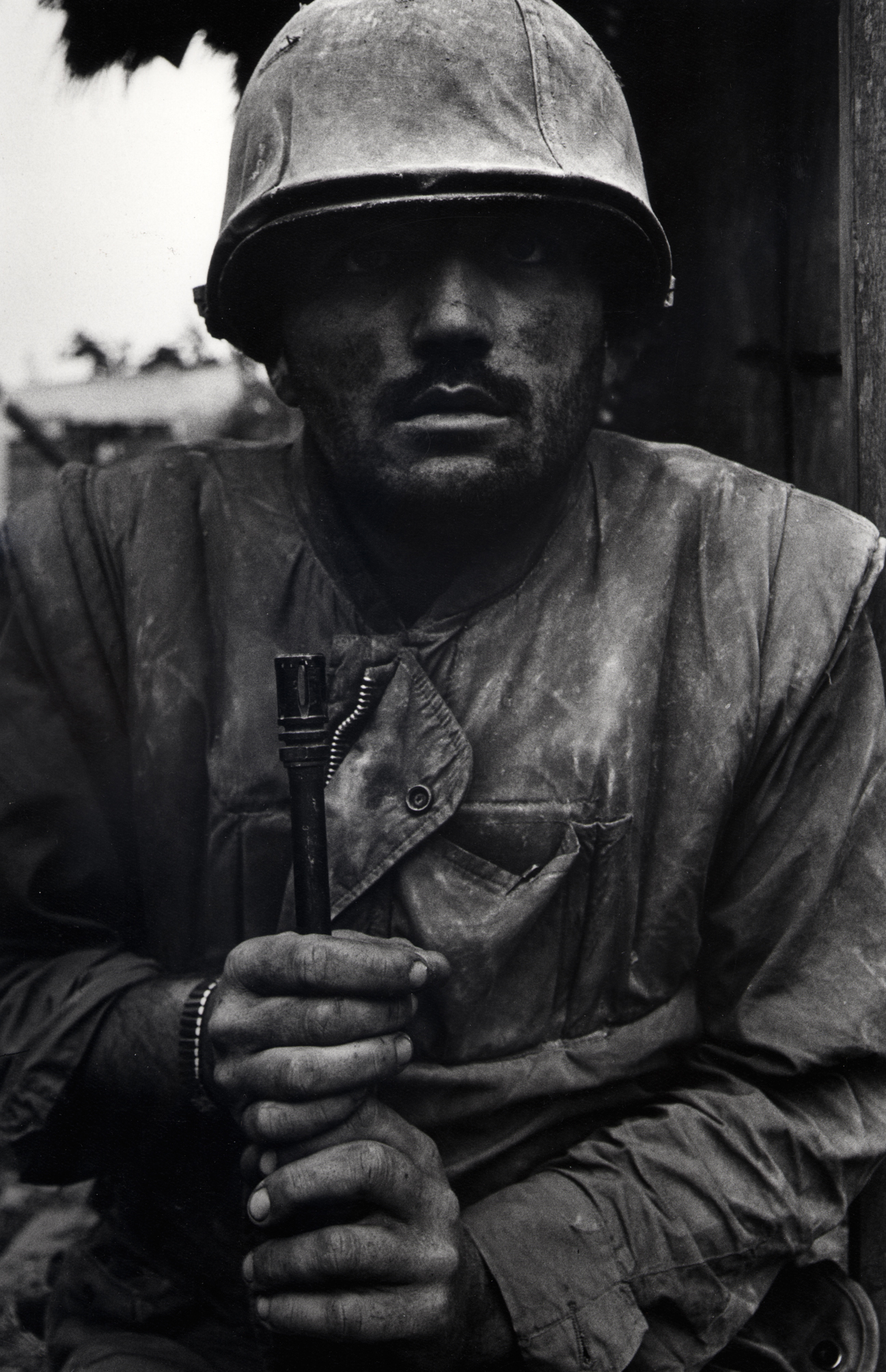 Don McCullin Shell Shocked US Marine, Vietnam, Hue 1968, printed 2013 © Don McCullin