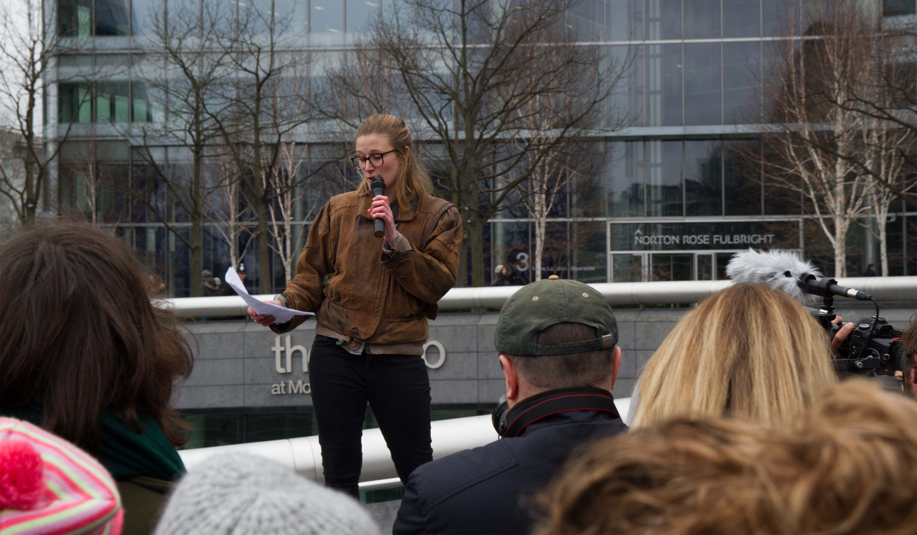 Rebecca Newsom, from Fossil Free SOAS and Divest London