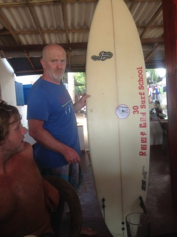 Shaper JP and the lost and found board