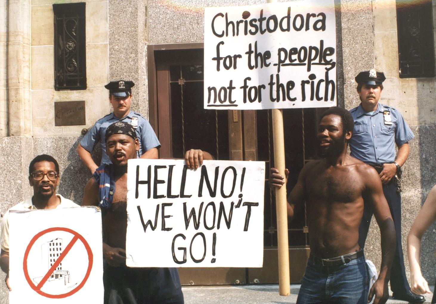 Christadora Protest