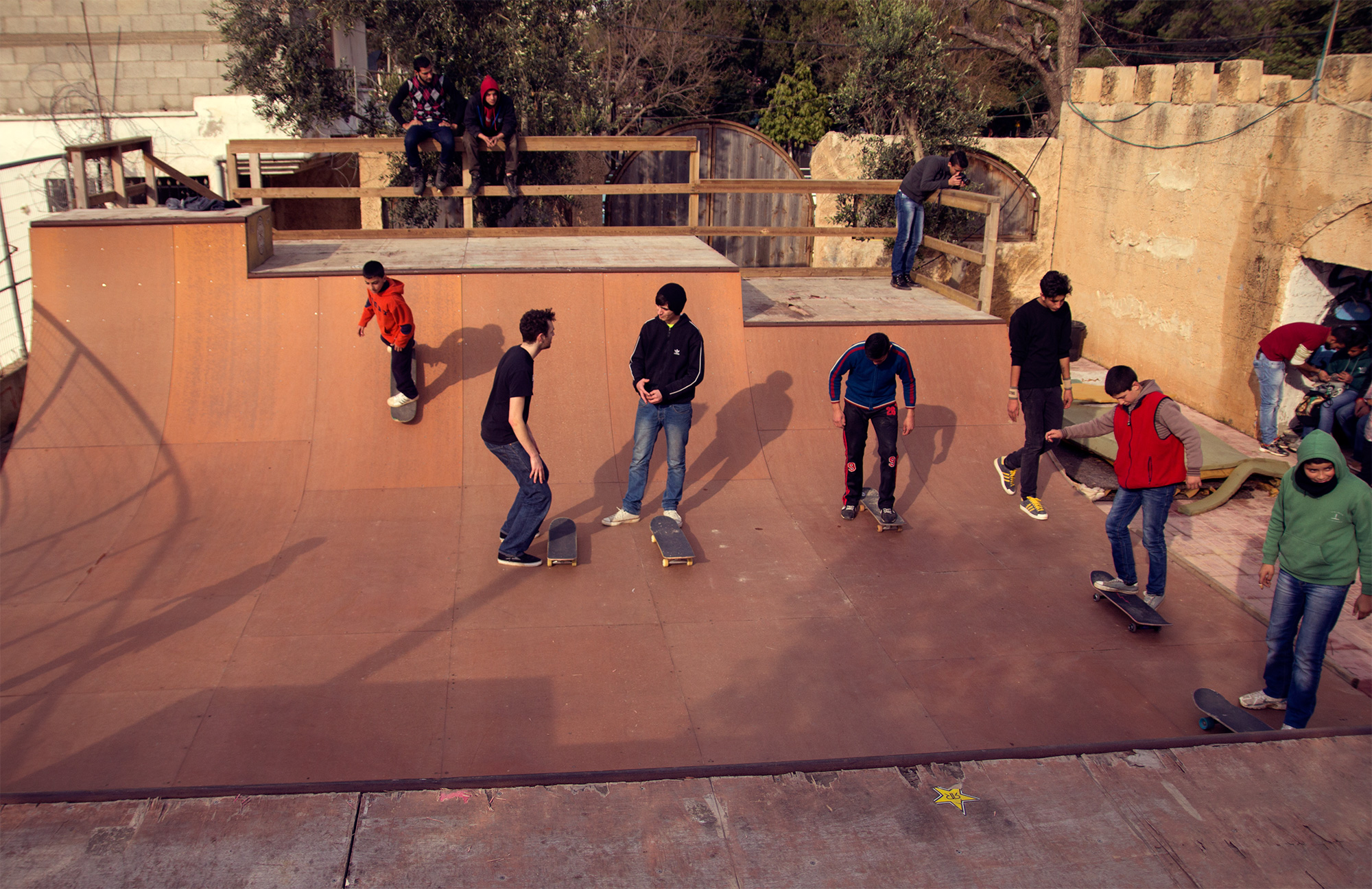 Theo teaching (at Qalqilya ramp)
