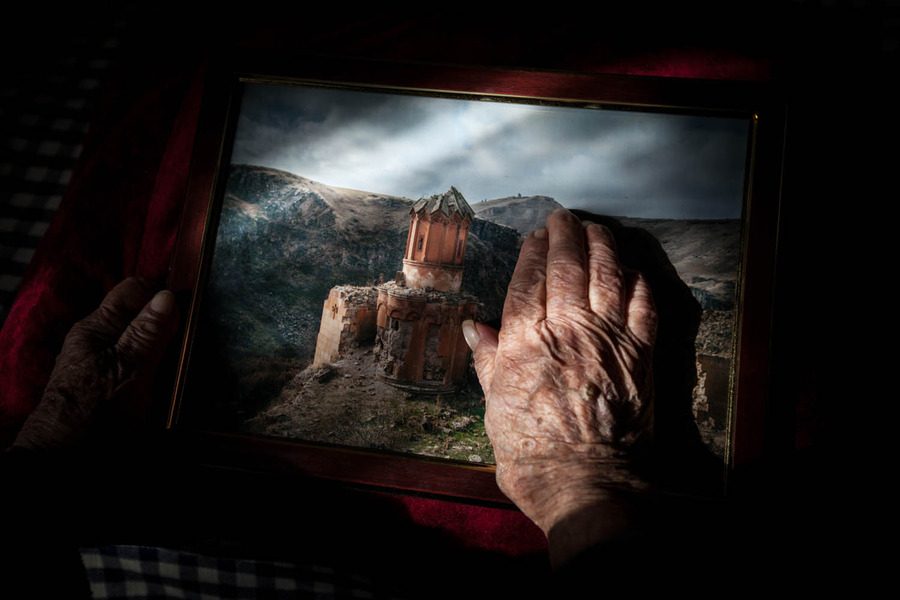 """Yepraksia Gevorgyan, now 110, escaped by crossing the river to what is now present-day Armenia. She watched the Ottomans kill the Armenians, throwing their bodies into the water, which she described as """"red, full of blood."""""""