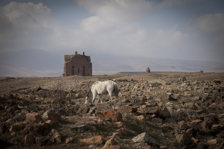 """Once the capital of an ancient Armenian Kingdom, Ani, was known as the """"city of 1,001 churches."""" After the genocide, Turkey cut Armenia from its history, with no mention of who built or inhabited it. Today, the city remains abandoned, apart from the occasional presence of Turkish border guards."""