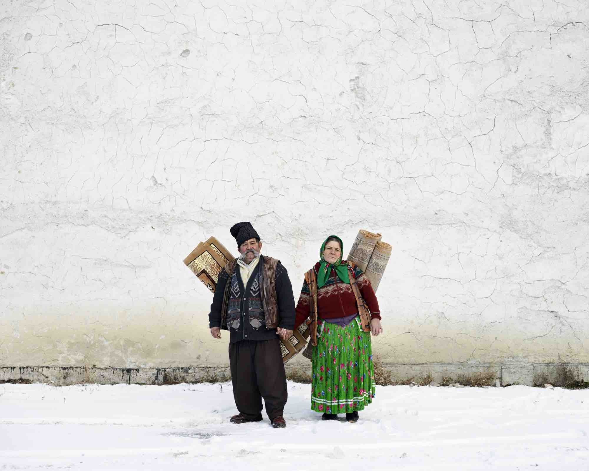 Carpet Sellers (Pojorata, North Romania), 2012 © Tamas Dezso. Courtesy of The Photographers' Gallery.