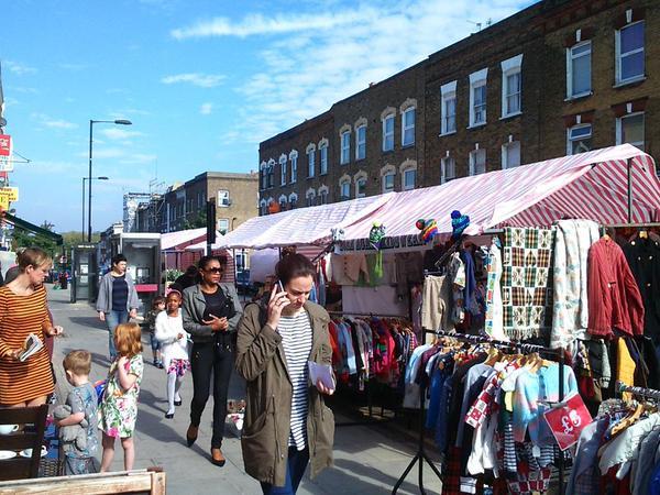 Chatsworth Road Sunday market. Photo by @chatsworthroad on Twitter.