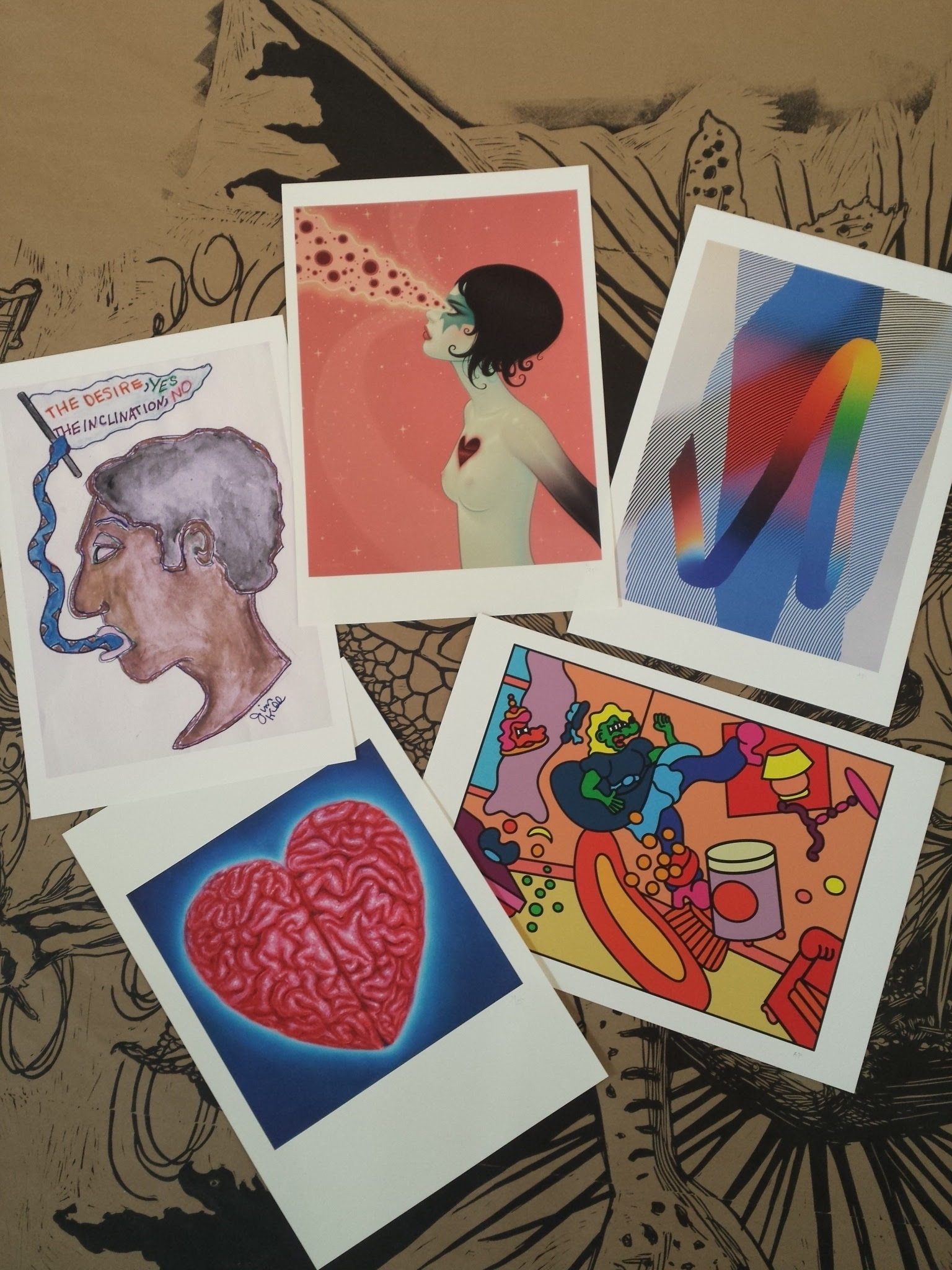 Some of the donated prints.