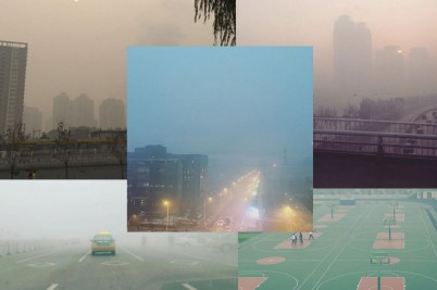 Instagram pictures of Beijing in smog