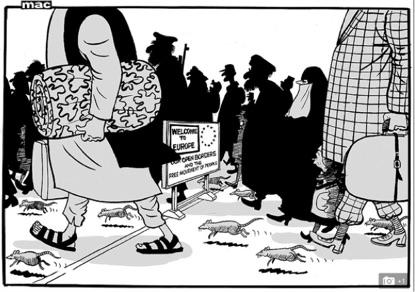 Dail Mail refugee cartoon
