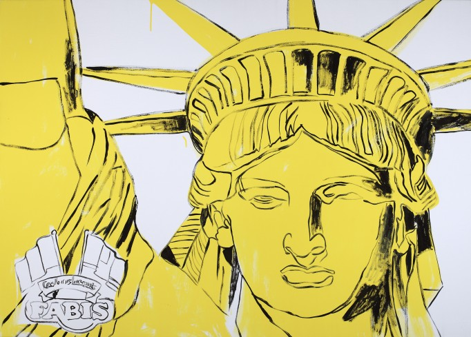 Fabis Statue of Liberty 1986 Acrylic and silkscreen ink on linen; 127.0 x 177.8 cm; The Andy Warhol Museum, Pittsburgh; Founding Collection, Contribution The Andy Warhol Foundation for the Visual Arts, Inc.; © 2015 The Andy Warhol Foundation for the Visual Arts, Inc./ARS, New York. Licensed by Viscopy, Sydney