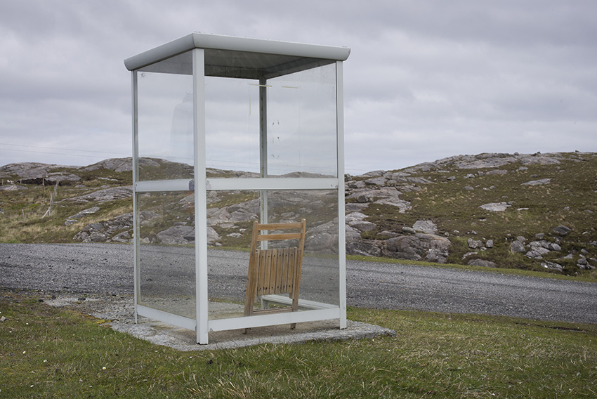 Scotland. Isle of Harris, Outer Hebrides. The village 'infomation bureau'.
