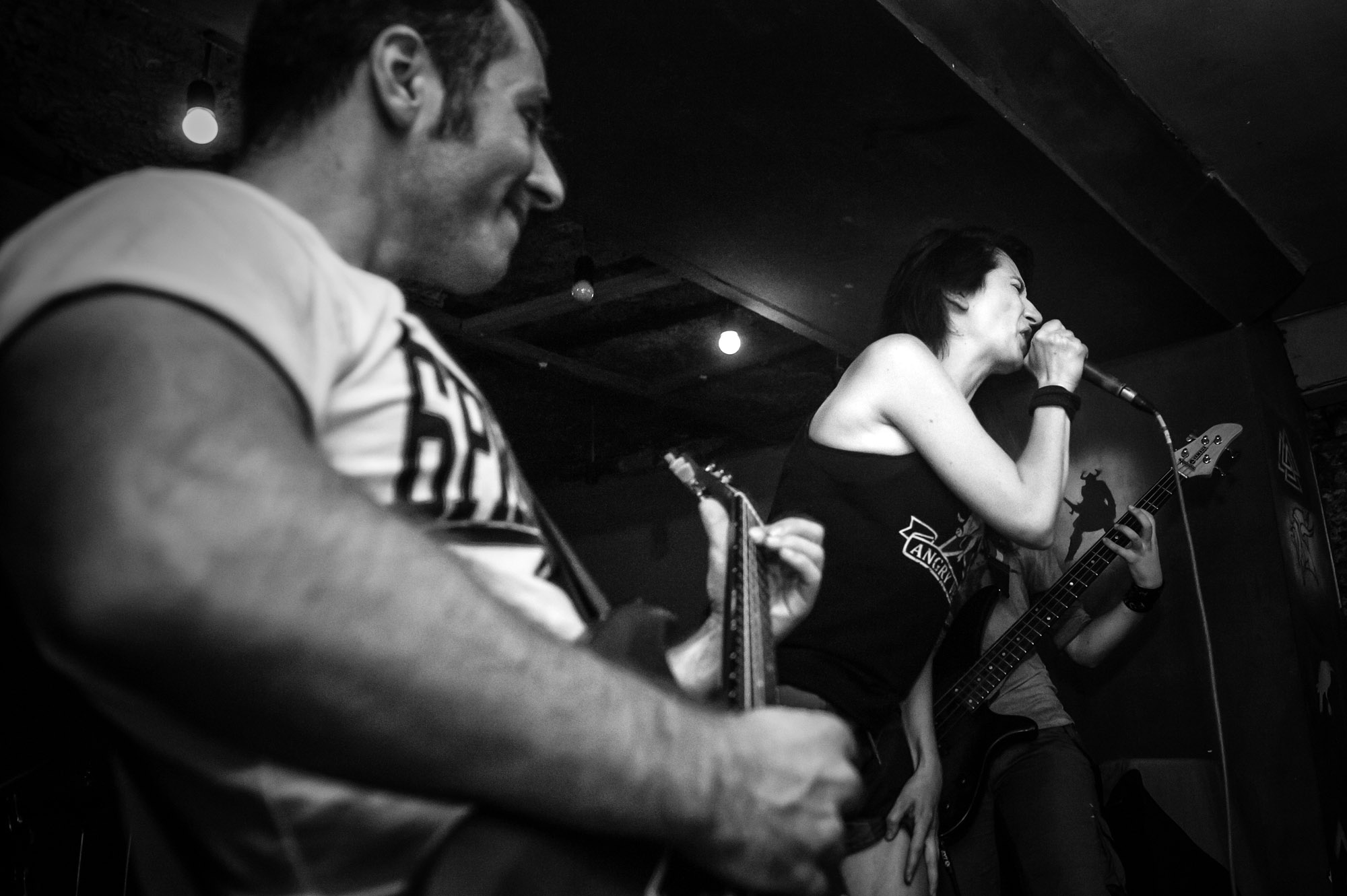 The Russian-Georgian punk band Catalina, formed last year, performs at the Valhalla Bar, also located in Tbilisi's Old Town. It's lead singer, Maria Pronchenko says the band's songs are intended to encourage youth to think for themselves.