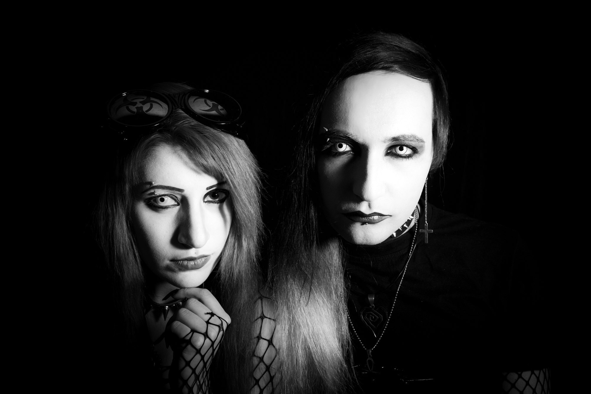 "Bella and Sandro ""Manson,"" Georgia's only gothic couple. Influenced by American musician Marilyn Manson, the couple plan to hold an event to markWorld Goth Day in Tbilisi on22 May 2016. ""I hope it will contribute to the development of the Georgian Gothic music and subculture scene,""he says."