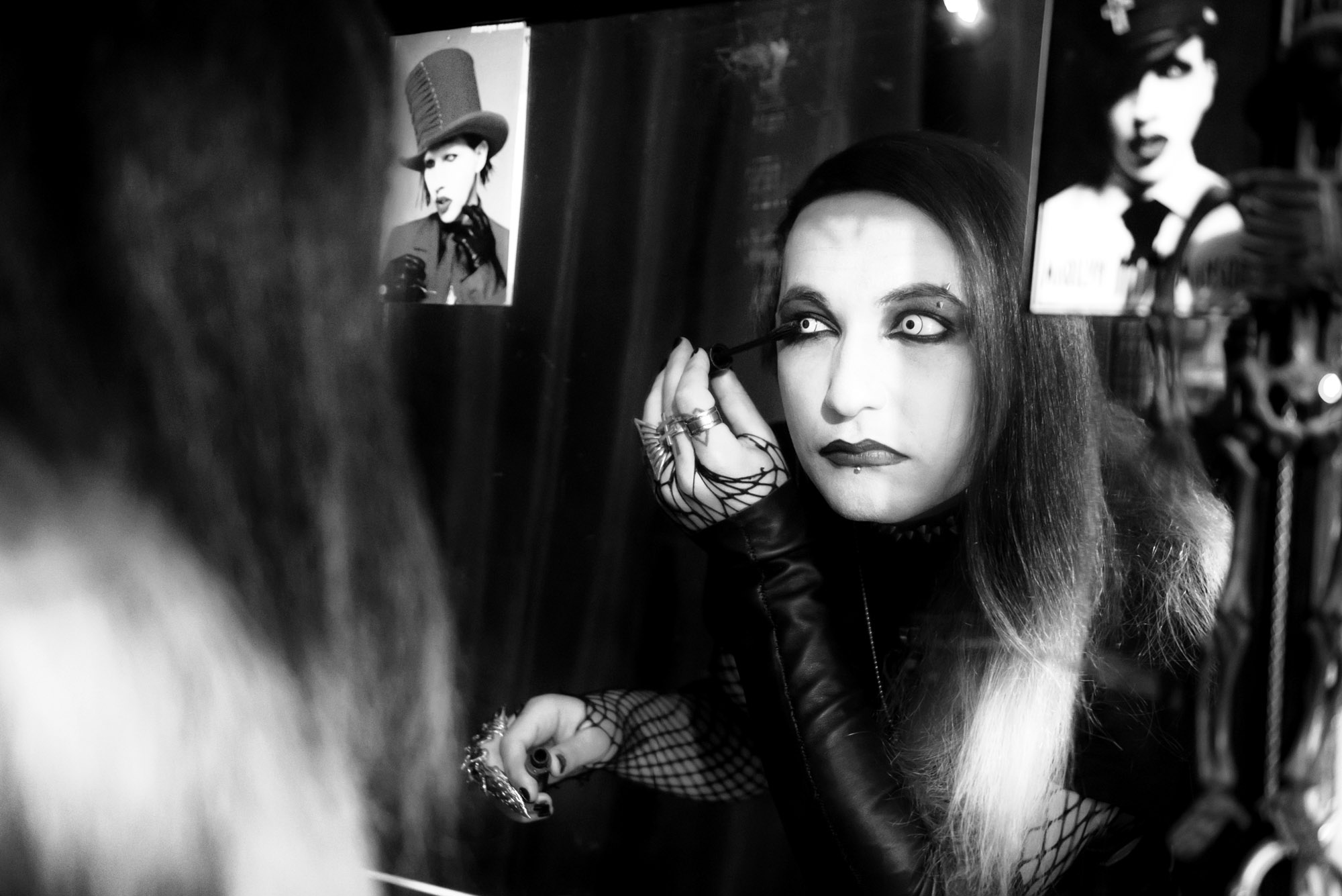 "Like his partner, Bella, 22-year-old Sandro ""Manson"" has dressed in gothic style every day for the past eight years. Studying tourism, Sandro is also a photographer and musician. ""Gothic culture is my muse,""he says. ""This subculture is very closed and distinct from others. It has a huge emotional and aesthetic aspect."""