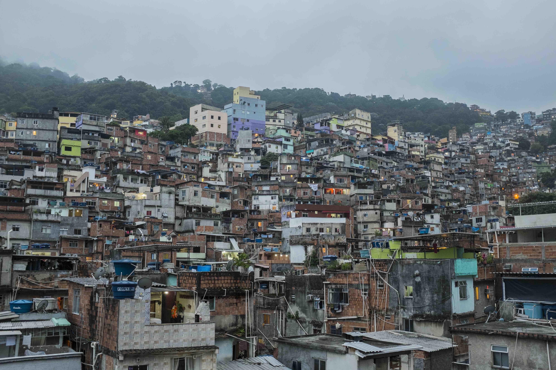 Rochinha favela, Rio de Janeiro. Top of page: Gabriel 'Popó' Oliveira looks out at the lineup at Cantão, São Conrado.