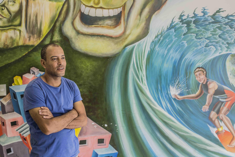 José Ricardo 'Bocão' founded Rocinha Surf School in 1987.