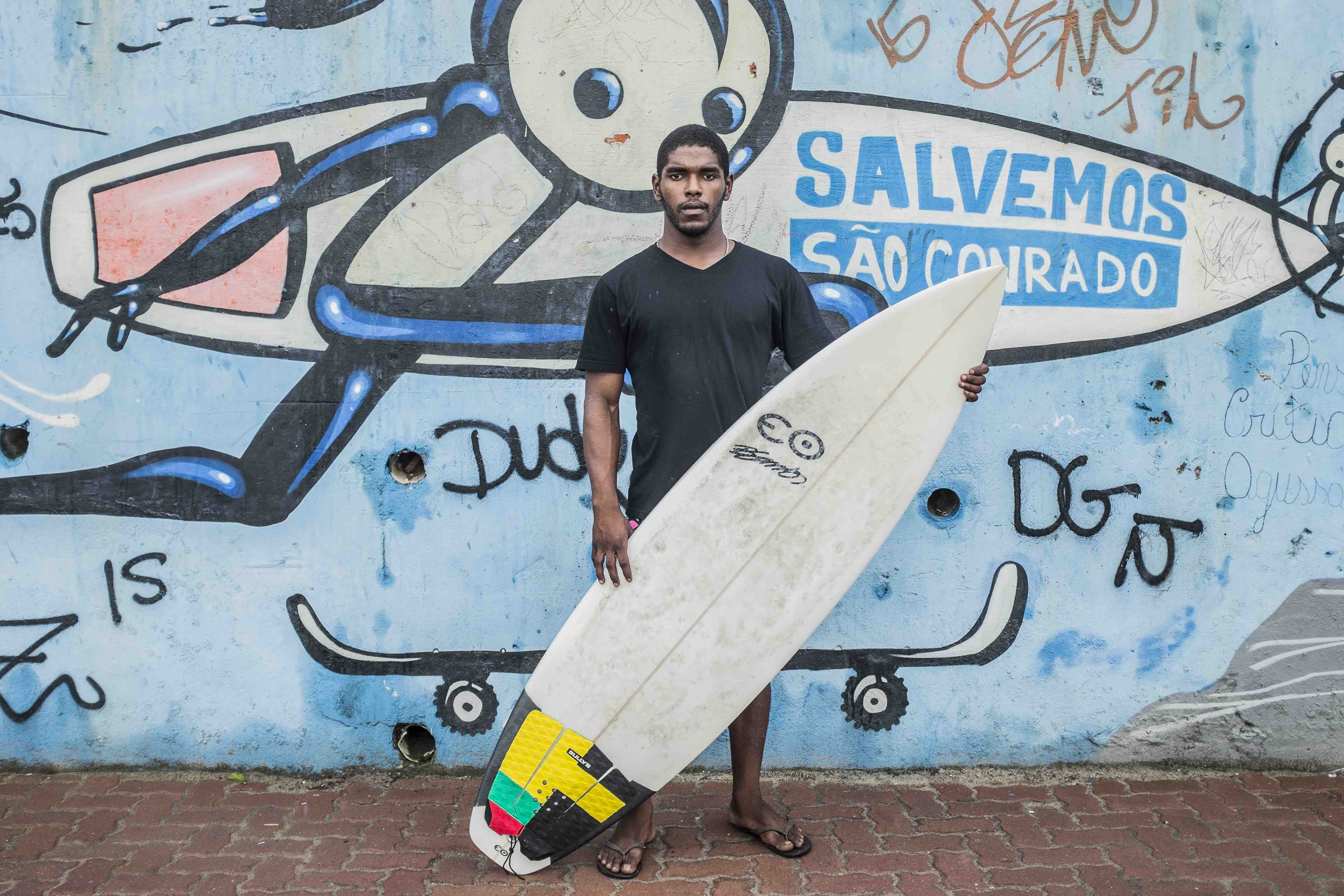 Carlos 'Mister M' Belo co-founded Rocinha Surfers Association.