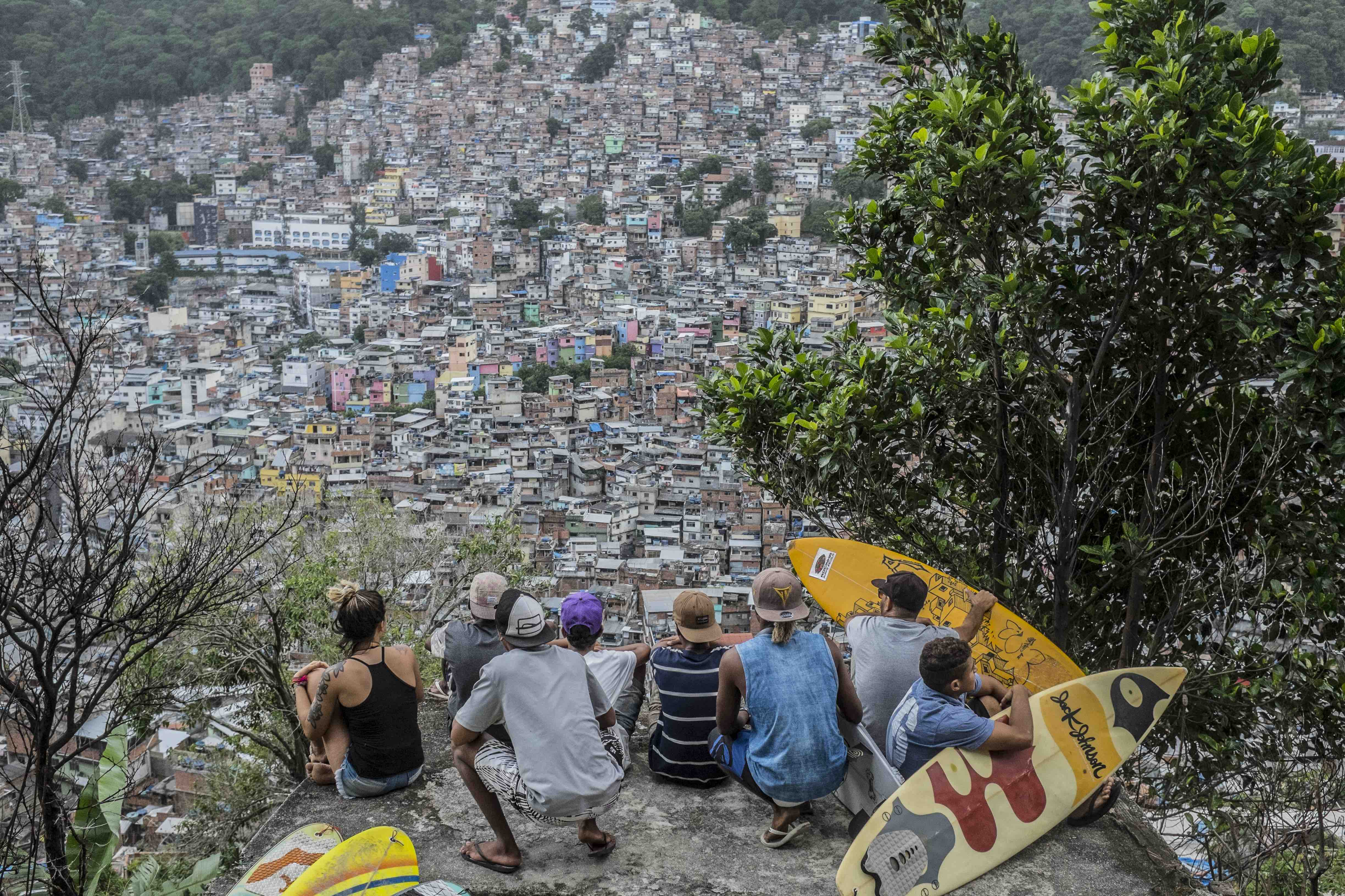 Looking out over Rocinha.