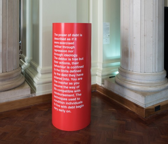 Liam Gillick, Lazzarato on Debt, 2015. Courtesy the artist and Maureen Paley, London ©