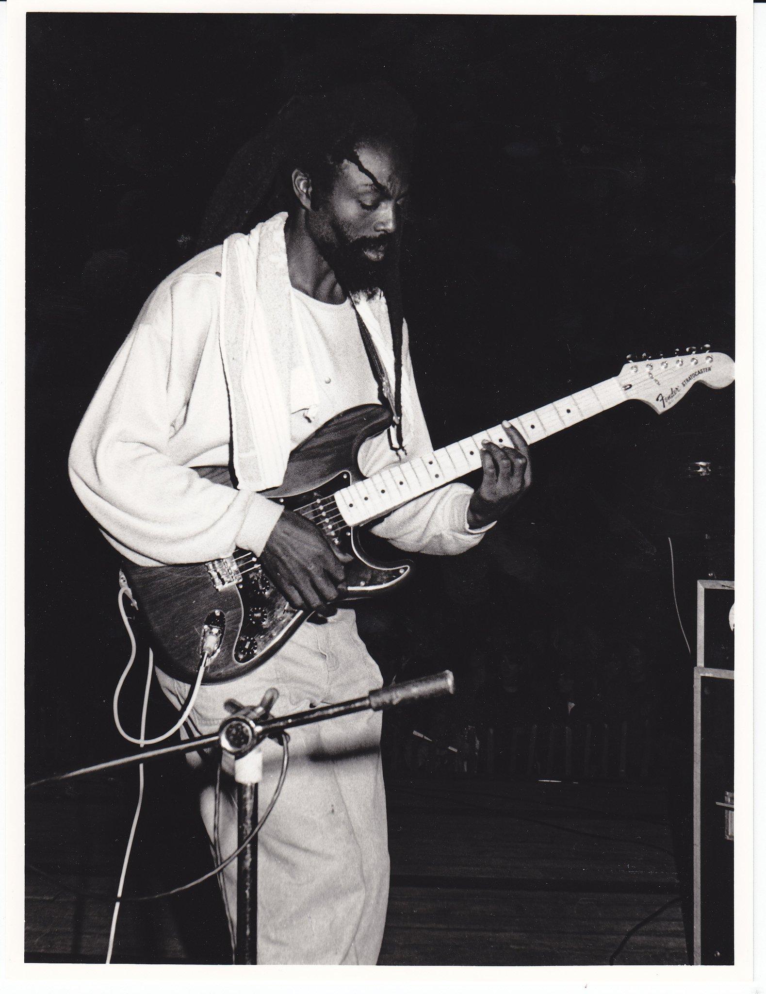 Black Roots' Jabulani Ngozi on guitar
