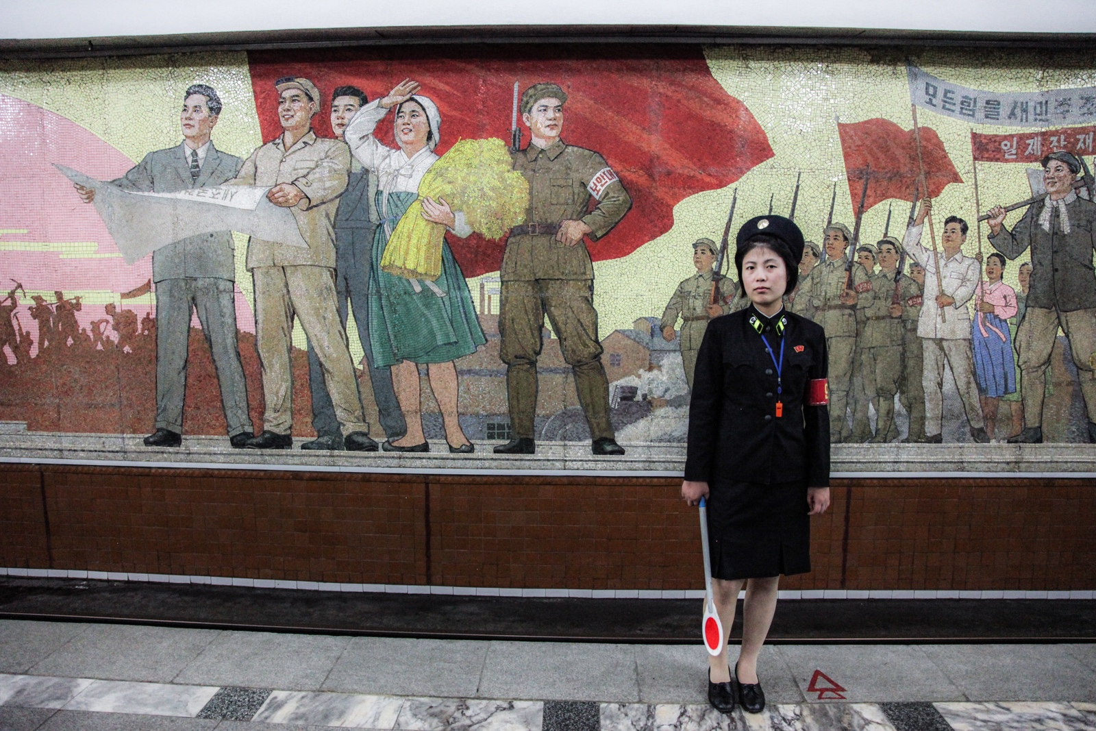 A Subway officer in Pyongyang.