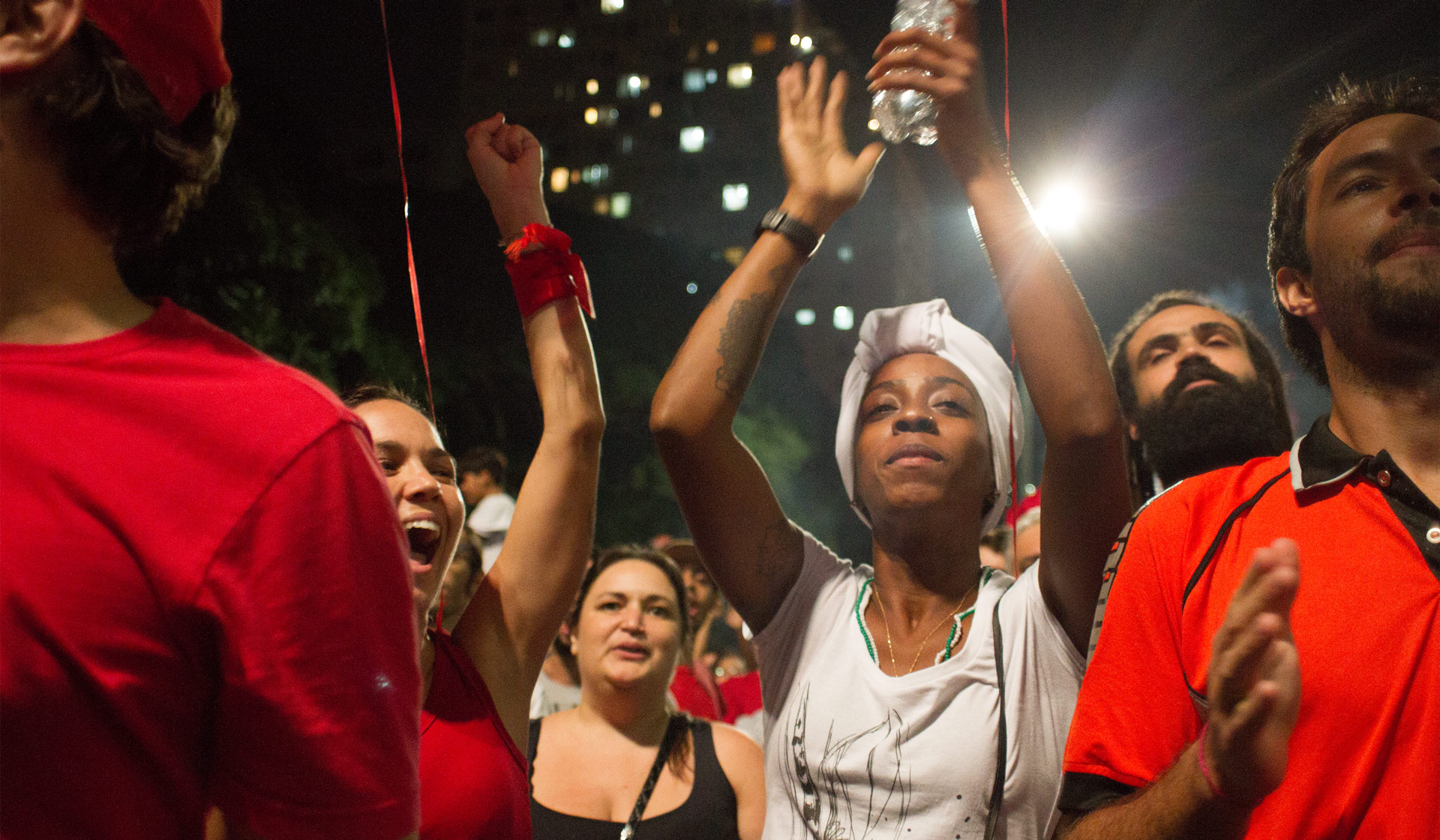 Pro-government protestors in São Paulo, earlier in the year