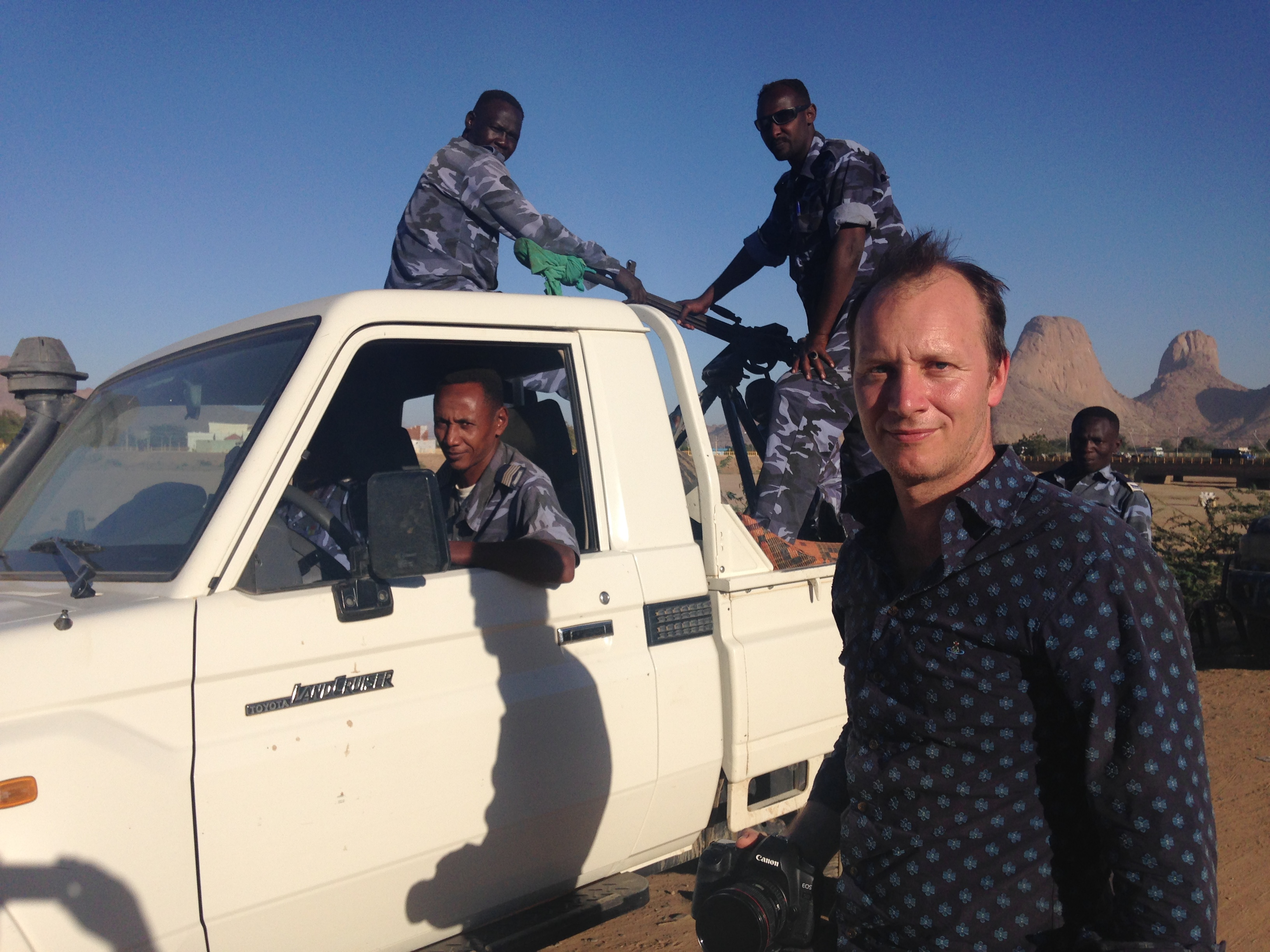 Paul and the Sudanese patrol
