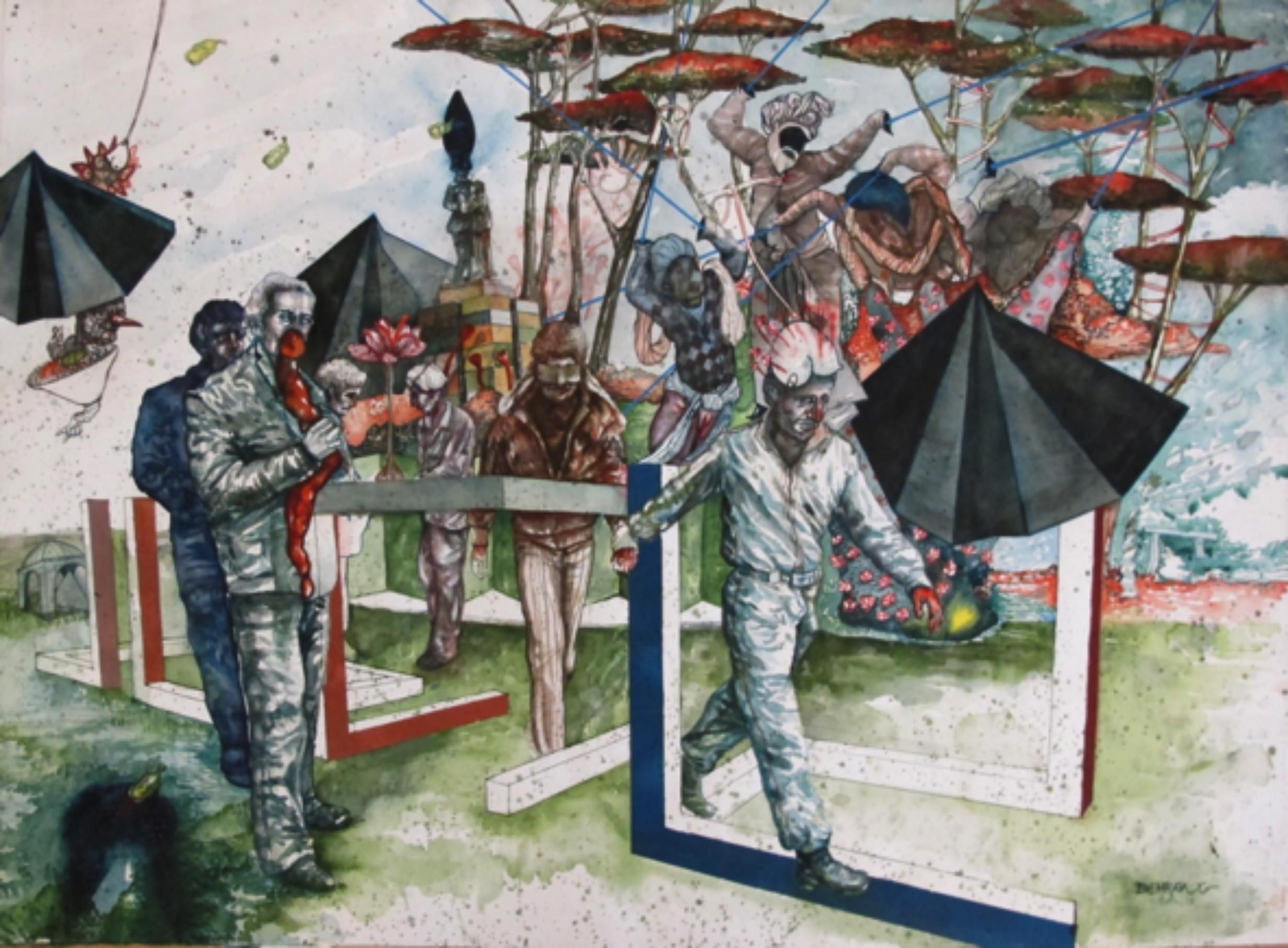 Behrang Samadzadegan, Sol Le Witt, By the Side of Utopia, 2016