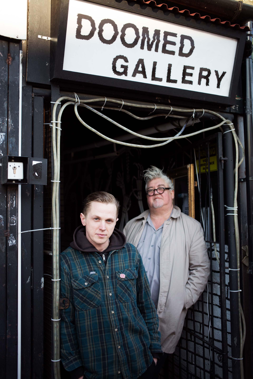Left to right, Matt Martin and Ken Flaherty outside Doomed
