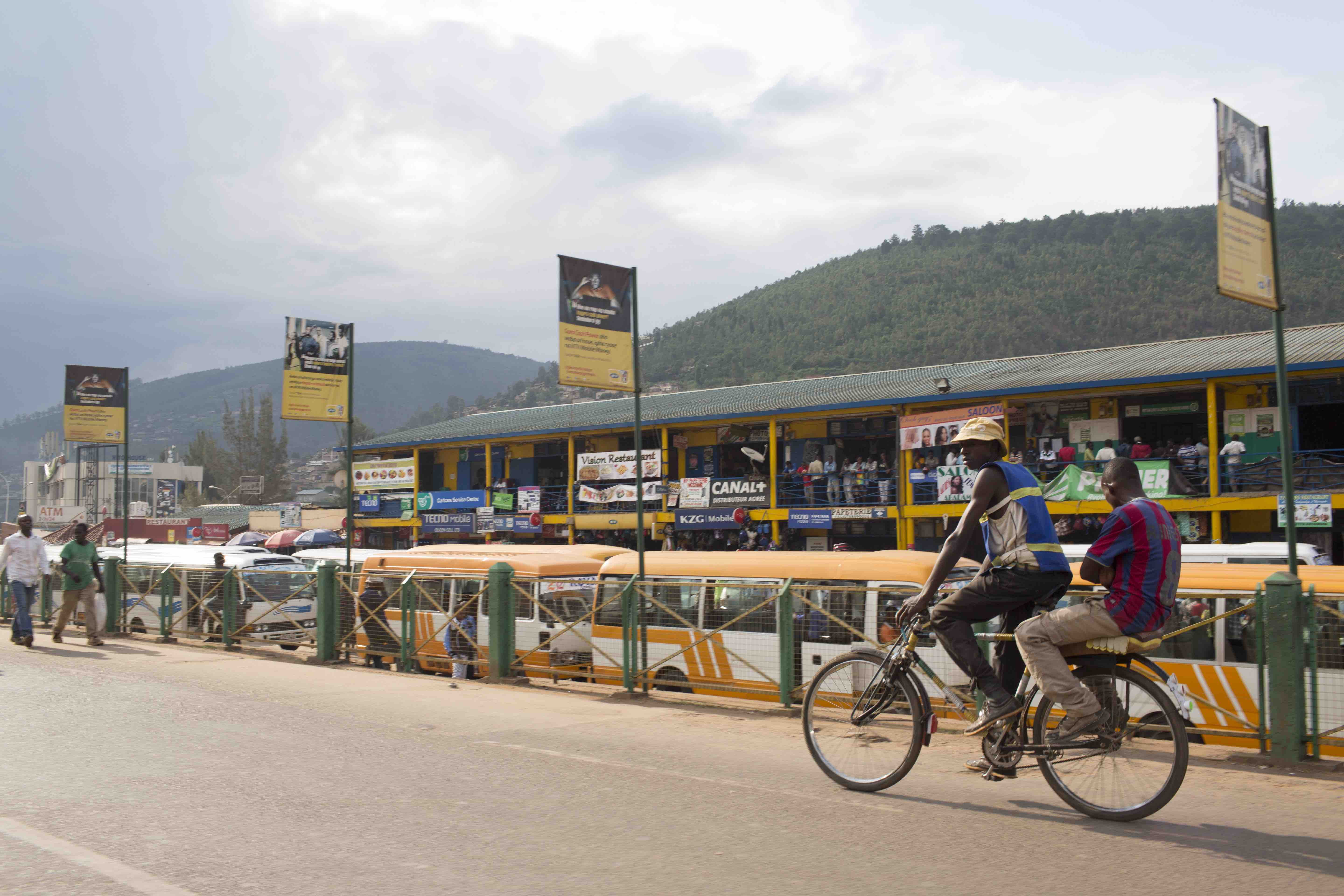 Cyclists in the capital, Kigali