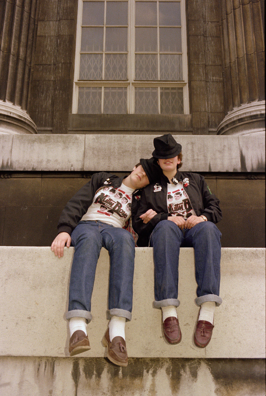 Anita Corbin: 'Karyn and Sarah, British Museum'. March 1981. From the series Visible Girls