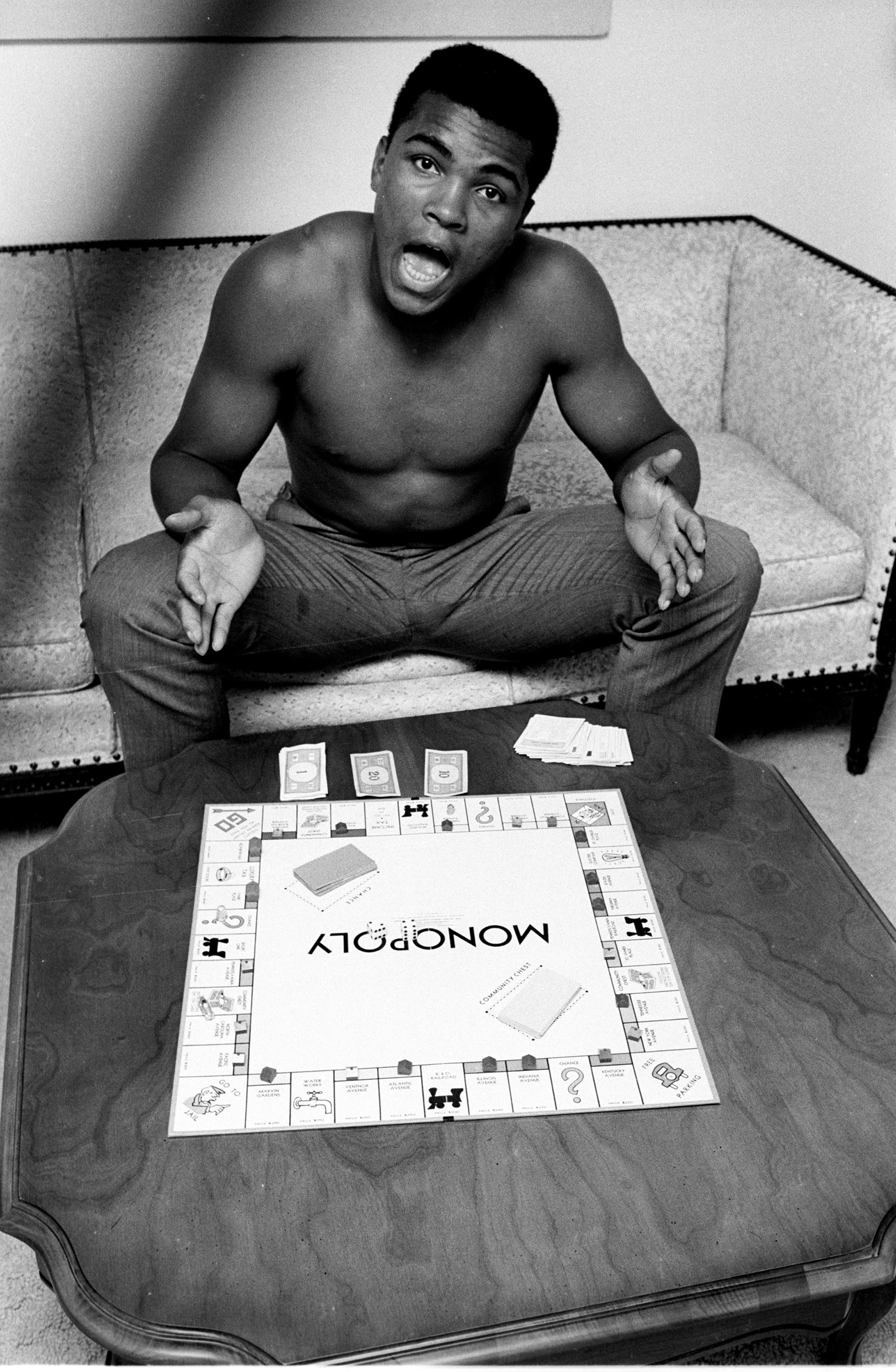 Muhammad Ali, Monopoly, Louisville KY 1963 © Steve Schapiro