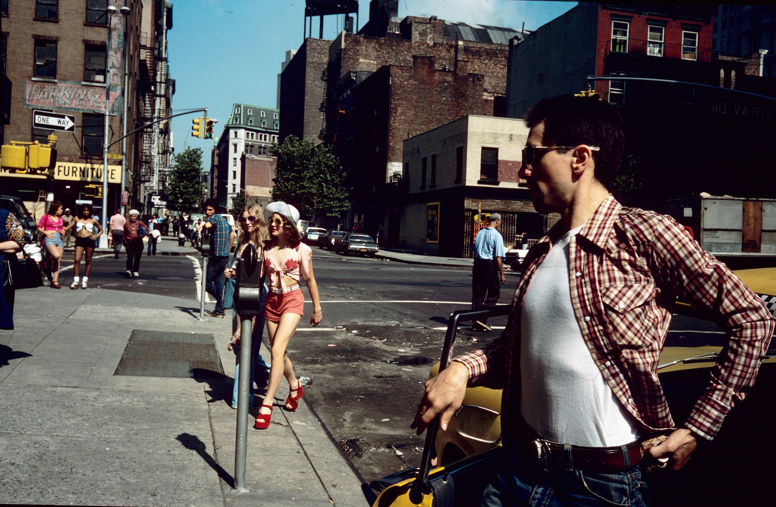 Jodie Foster Crossing the Street, from Taxi Driver, New York, 1975 © Steve Schapiro