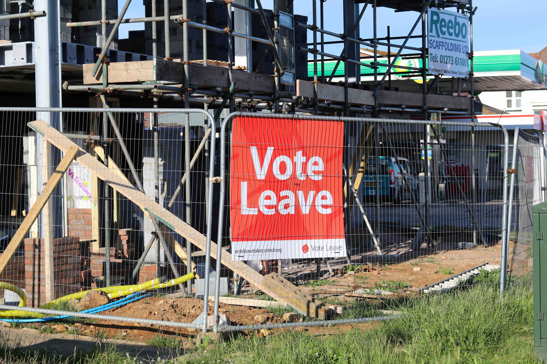 Vote leave building site