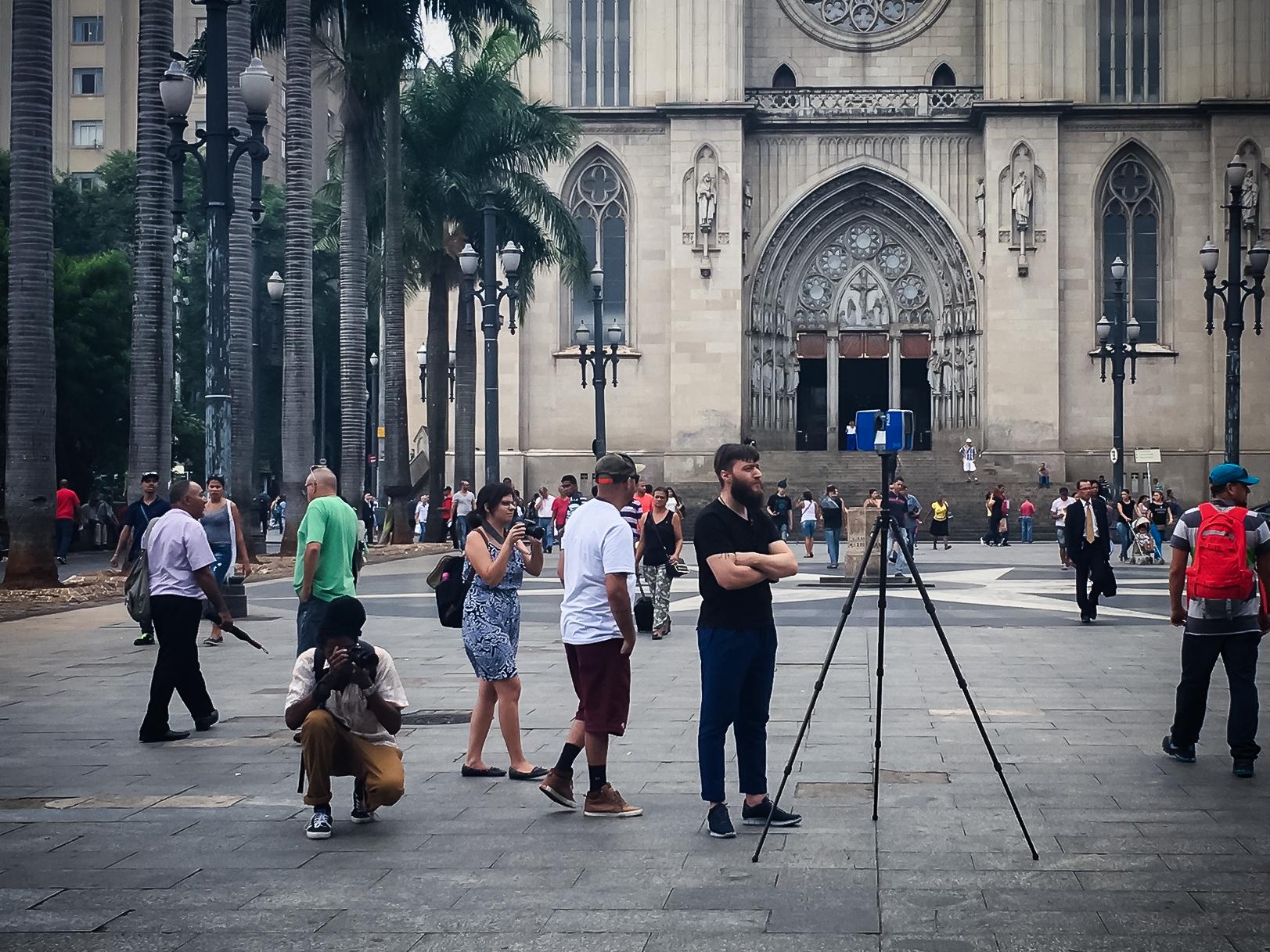Using the Lidar scanner in central São Paulo