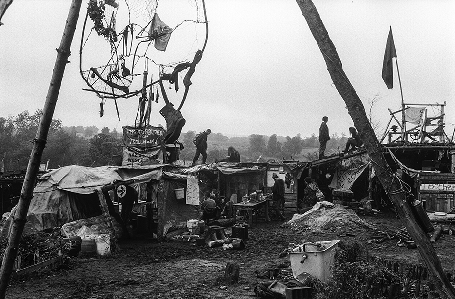 At the Fairmile, Trollheim and Allercombe protest camps in Devon, 1996.