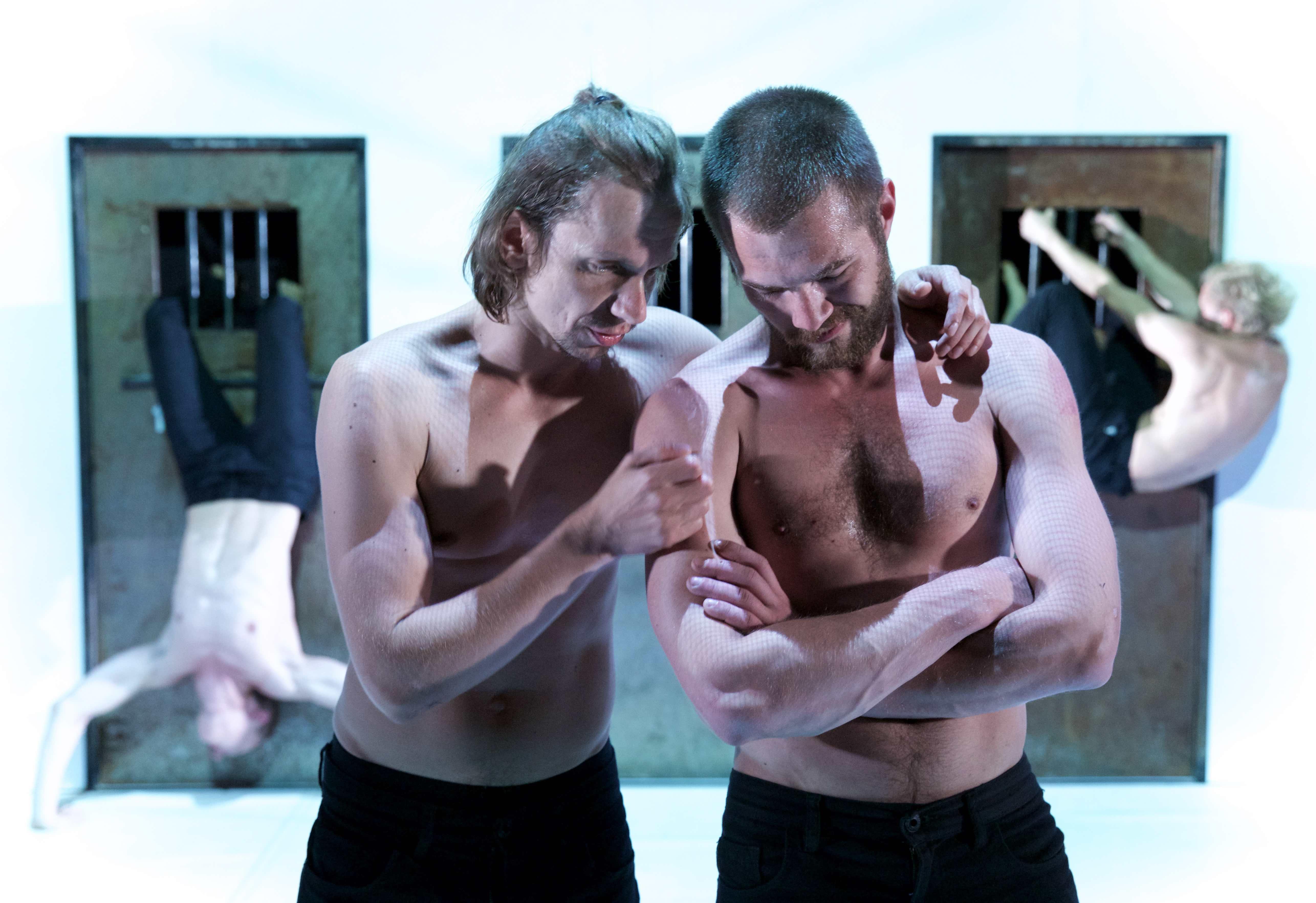 (c) Nicolai Khalezin, Belarus Free Theatre - Burning Doors. Pavel Haradnitski and Kiryl Kanstantsinau