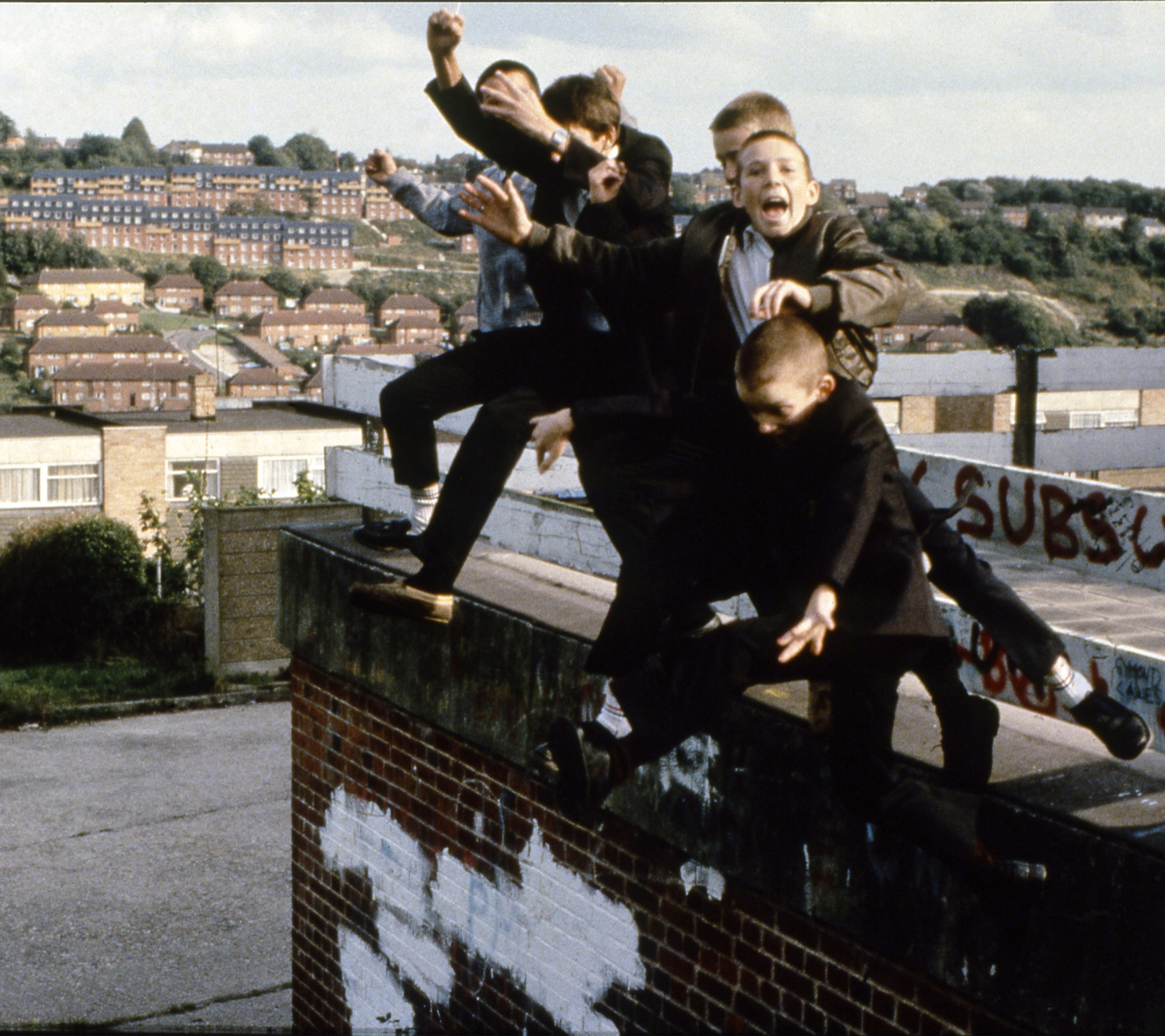 Gavin Watson-Boys Jumping off Roof, High Wycombe, UK, 1980s copy