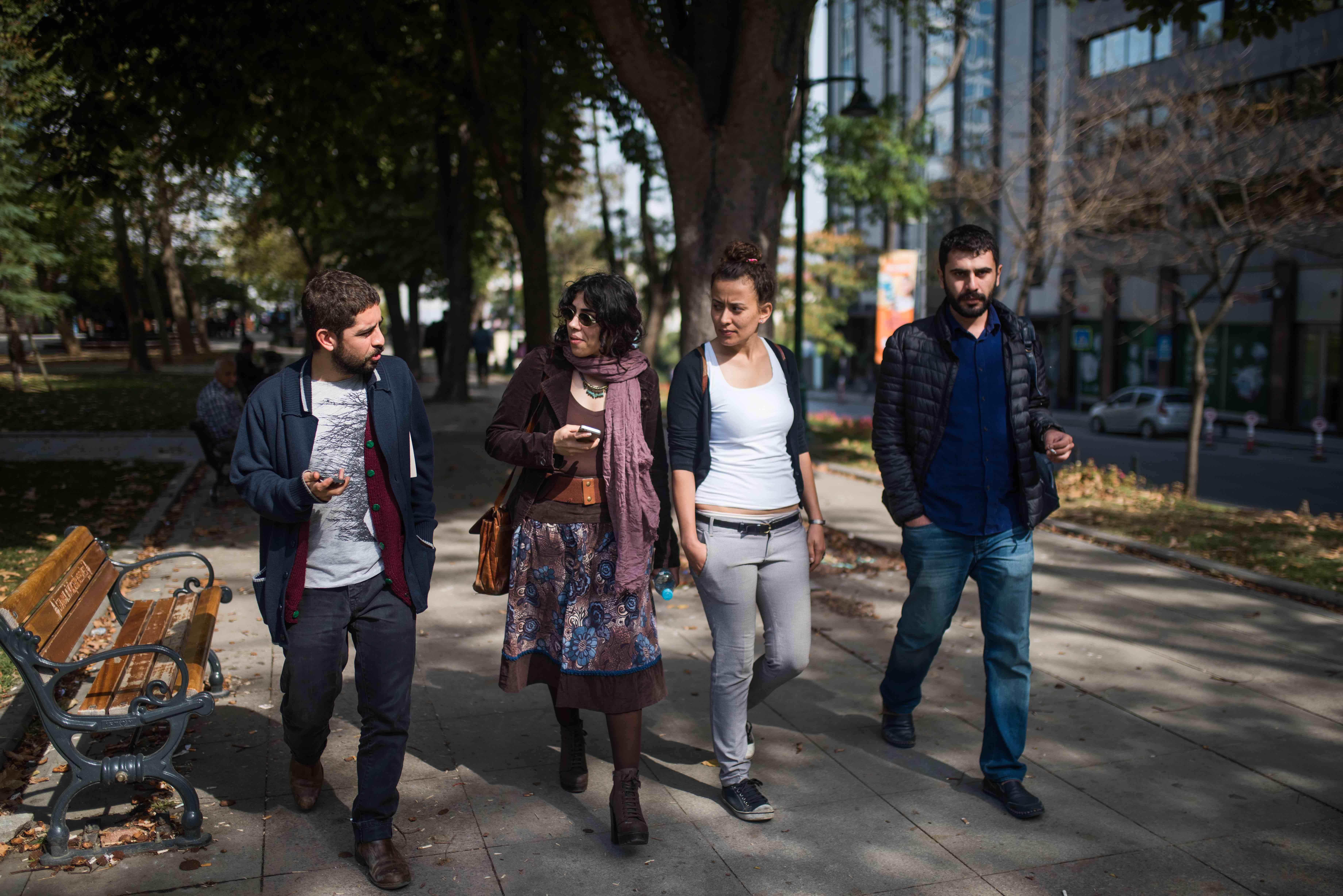 Gezi park_ Cagri, Heja, Mehtap, Hisyar