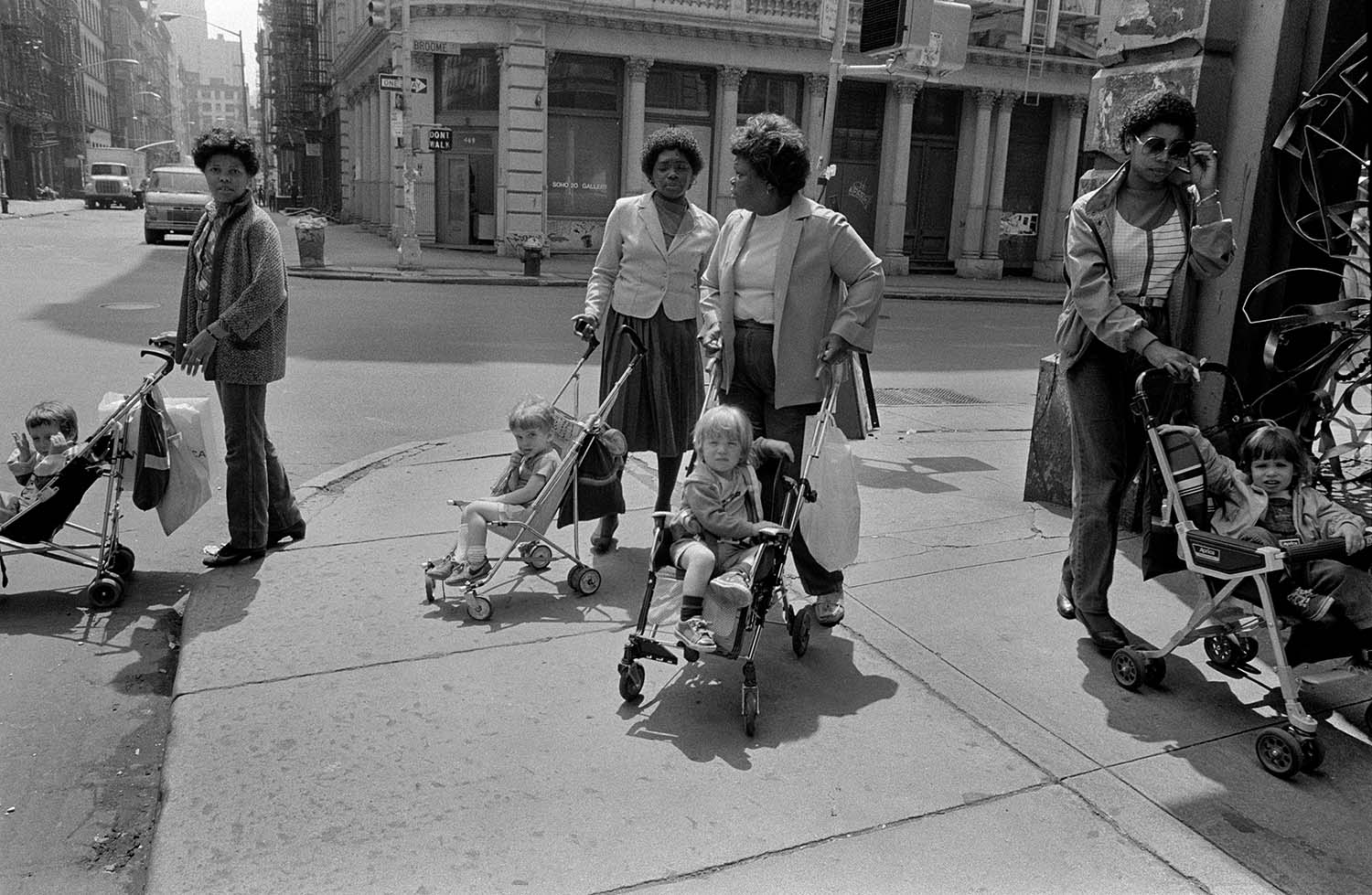 Black Nannies/White Tykes, SoHo, NYC, 1982