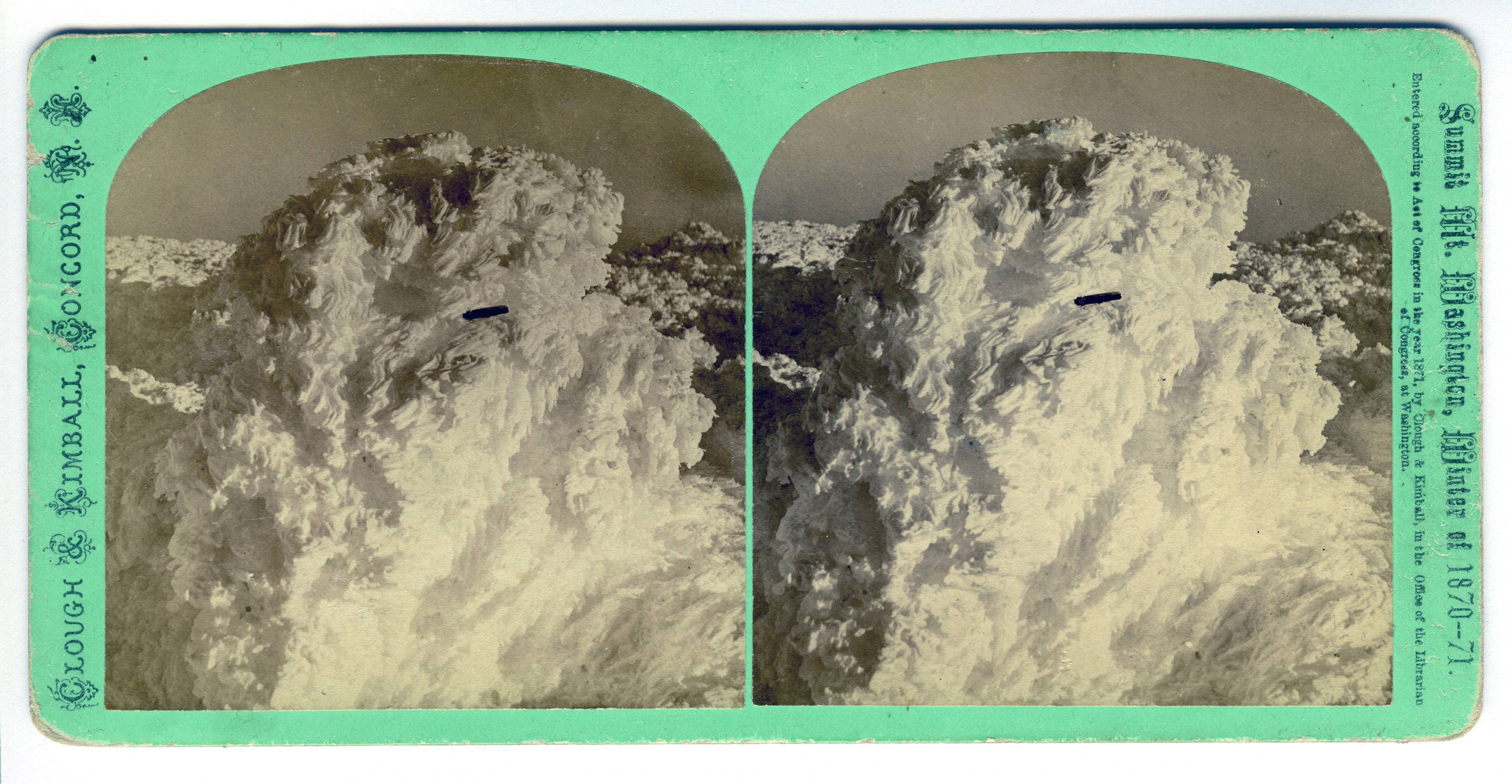 Stereoscope of Mount Washington, 1870-71 Considered by many as the first UFO photograph Collection of Gordon MacDonald