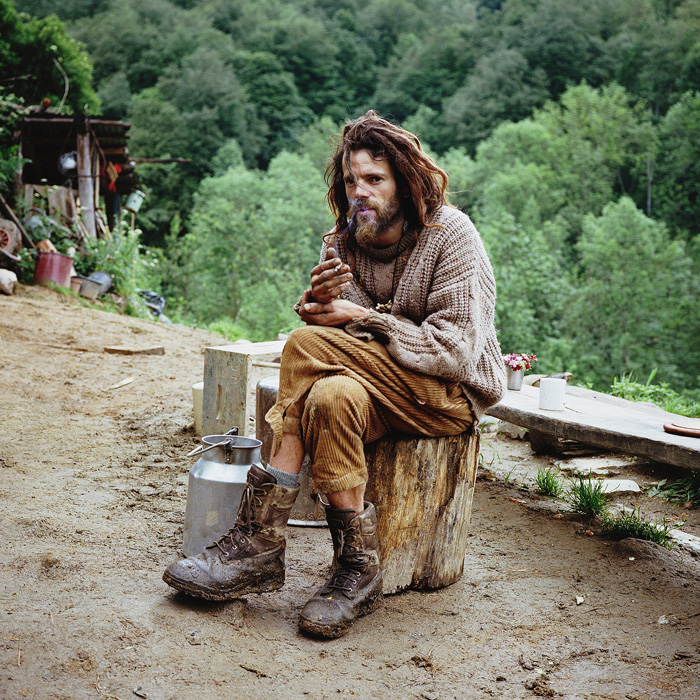 "Vincent, a volunteer carpenter in the Pyrenees, 2012. ""As a student, pursuing mathematics didn't make any sense for him,"" says photographer Antoine Bruy. ""Instead he wanted a life closer to his convictions."""