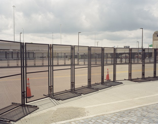 Gates surrounding the Republic National Convention in Cleveland.