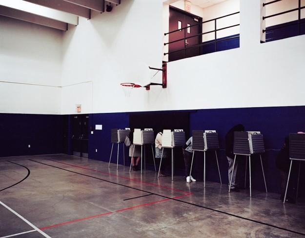 Voting at God's Bible School College in Cincinnati.