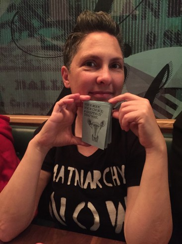 Jill Soloway, creator of the show Transparent, with the zine.