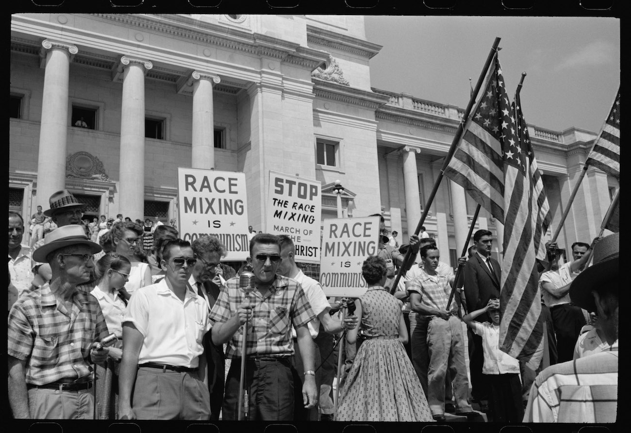 An anti-integration rally in Little Rock, Arkansas. Photo courtesy of Magnolia Pictures.